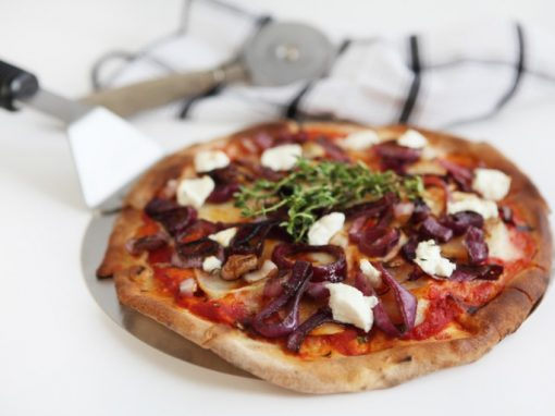 Tuscan Onion & Goats Cheese Pizza