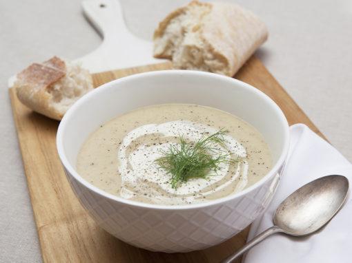 Creamy Potato, Leek & Fennel Soup
