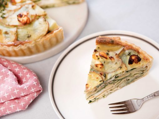 Mozart Potato, Spinach & Feta Quiche