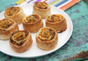 Sweet Potato, Spinach & Ricotta Pinwheels